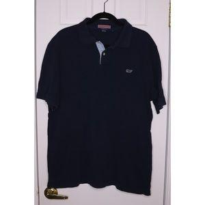 Men's VINEYARD VINES Whale Shirt Polo Navy Blue
